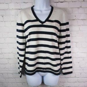 Tommy Hilfiger Pima Cotton Striped Sweater